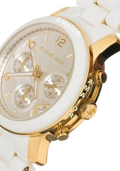 Relógio Michael Kors Branco Feminino - Original