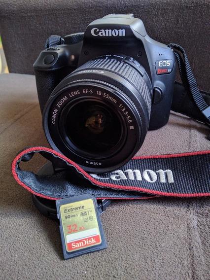 Câmera Dslr Canon T6
