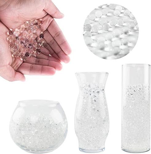 X10 Paqu Bolitas Hidrogel Transparentes Floreros Decoración