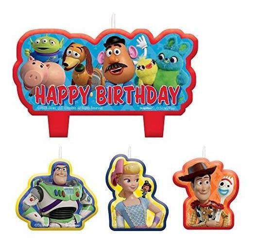 Juego De 4 Velas Toy Story Con 4 Cenizas Por Paquete.
