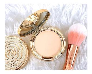Maquillaje En Polvo De Lujo Con Espejo Mc 3pz Gold Beauty