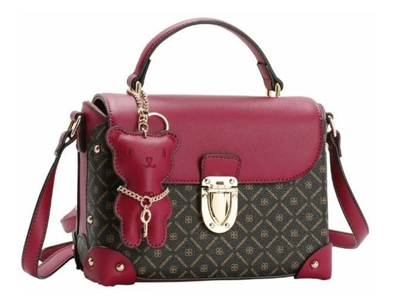 Bolsa Chenson Em Couro Ecológico Caramelo Ou Pink 3481804