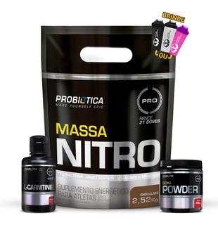 Hipercalórico Massa Nitro + Bcaa Powder + L - Carnitina