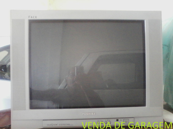 Tv Semp Toshiba 21 Tela Plana Face Ótimo Estado C/ Controle