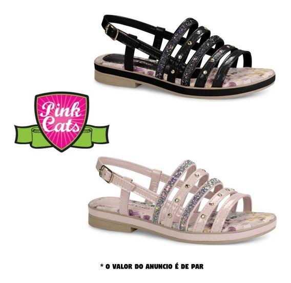 Sandália Feminina Infantil Pink Cats V0063 - 28 Ao 33