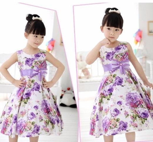 Vestido Infantil Menina Floral Flores Vários Modelos