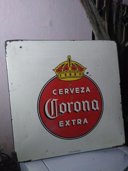 Publicidad Cubierta De Mesa Antigua De Corona No Carta Blanc