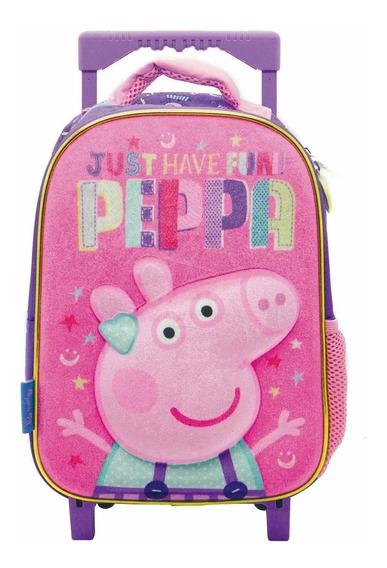 Mochila Peppa Pig C/carro Jardin Original 12 Pp058