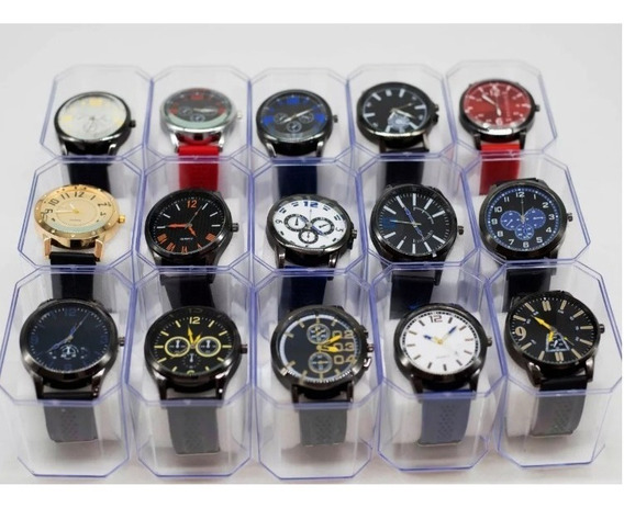 Relógio Masculino Atacado + 10 Caixas - Kit C/ 10
