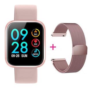 Relógio Smartwatch Rose P68 Pro + Brinde Pulseira De Aço