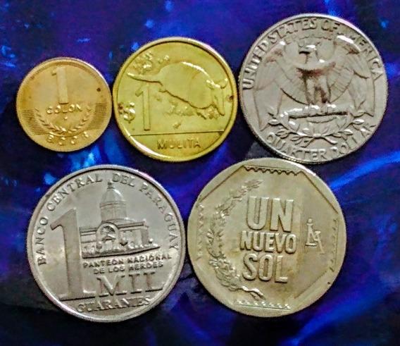 Monedas De América 10 Costa Rica, Usa Y Otros Países