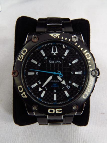 Relógio Bulova Precisionist Champion Calendário Inox Preto