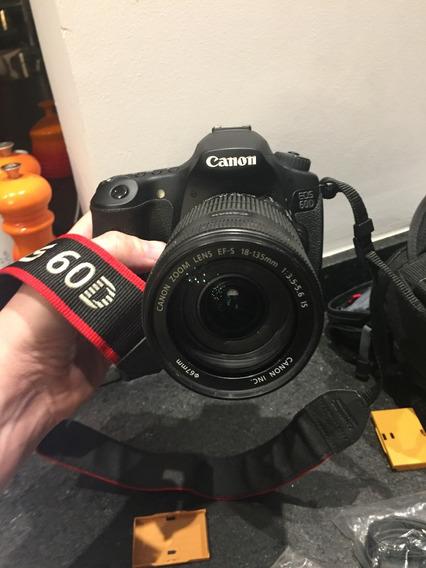 Canon Eos 60d 18/135mm, Com Kit Completo + Case, Apenas 11k