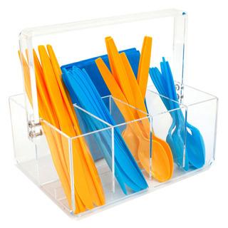 Paylak Acrílico Utensiliocaddy -forks Spoons