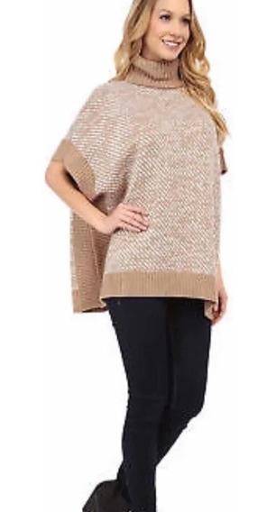 Sweater Suéter Poncho Capa Michael Kors Nuevo Nude Blanco
