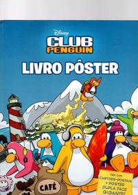 Livro Pôster Club Penguin Disney E Cartões-postais Ano 2011