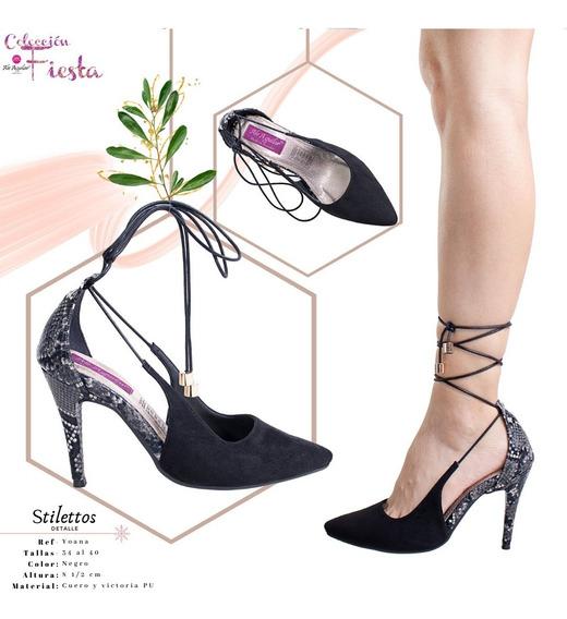 Zapatos Para Mujer Tacones 8cm De Alto Tallas Desde 34 Al 40