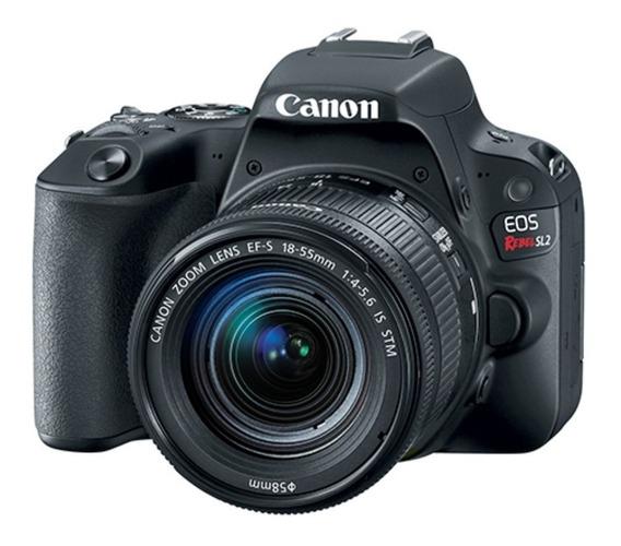 Câmera Canon Eos Rebel Sl2 18-55mmis Stm C/ 2 Anos De Garantia + Nfe