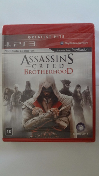Assassins Creed Brotherhood Ps3 Mídia Física- Novo E Lacrado