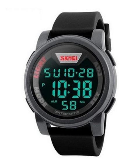 Relógio Skmei Digital Masculino 1218 Preto E Cinza