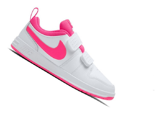 Tênis Nike Infantil Pico 5 Branco E Rosa Menina Ar4161102