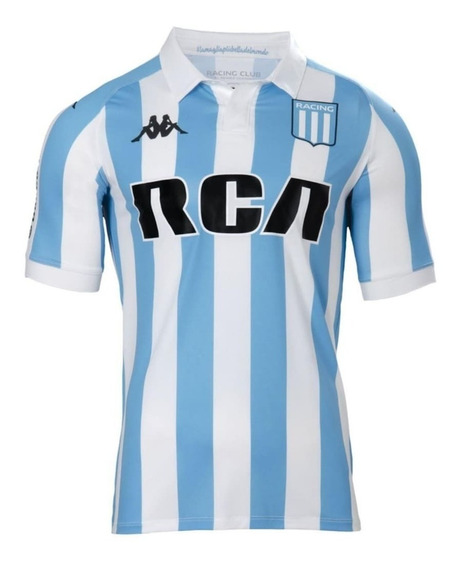 Camiseta Racing Club Oficial Slim Kappa 2018 K2304jlvos