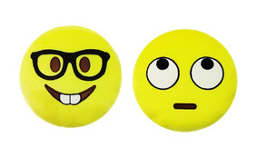Kit 2 Pelucias De Emoji Nerds Com Entrega Rápida