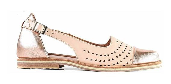 Chatita Cuero Mujer Briganti Zapato Suela - Mccha2990