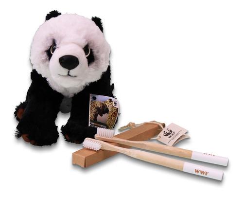 Imagen 1 de 1 de Combo Peluche Panda + Cepillo X2