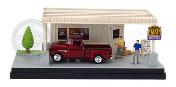 Diorama A Little R&r Chevy Stepside 1955 Motormax 1/43