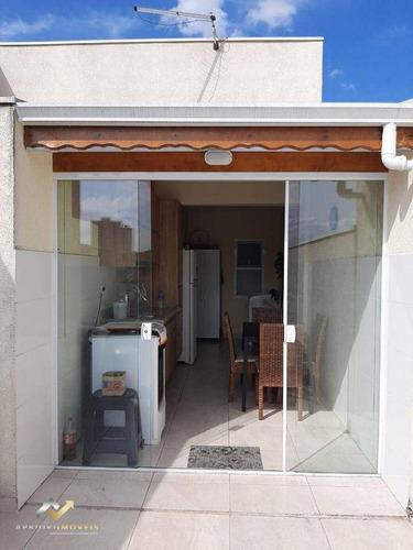 Cobertura Com 2 Dormitórios À Venda, 100 M² Por R$ 380.000 - Vila Marina - Santo André/sp - Co1035