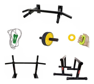 Promo Barras Iron + Mini Paralelas+lazo+rueda+aro Tensor Gym