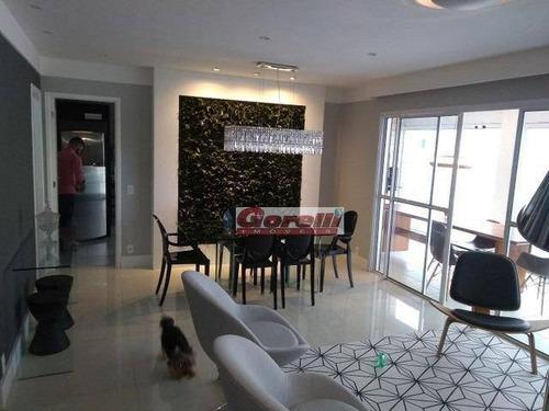 Apartamento Com 3 Dormitórios À Venda, 150 M² Por R$ 1.000.000,00 - Vila Nova Socorro - Mogi Das Cruzes/sp - Ap0580