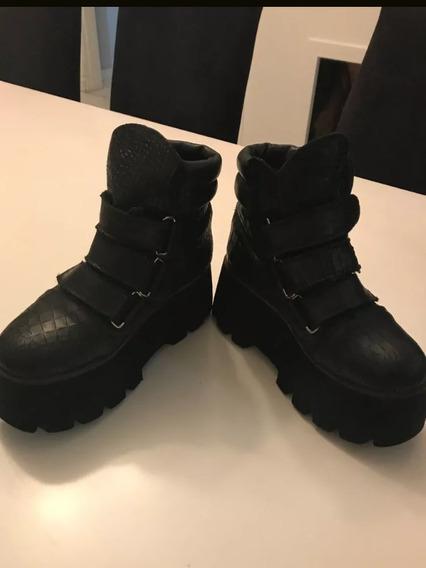 Borcegos/botas Con Plataforma Sofia De Grecia