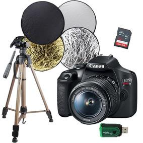 Câmera Canon T7 + Cartão 32 + Rebatedor + Tripé Fotográfico