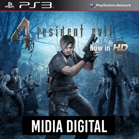 Vendo Resident Evil 4 Mídia Digital Ps3