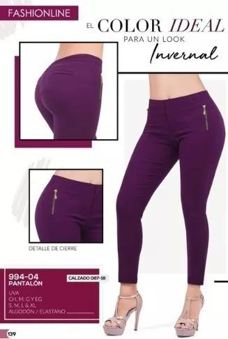 Pantalon Dama Cklass 994-04 Uva Sexy Oi-19 Look Invernal