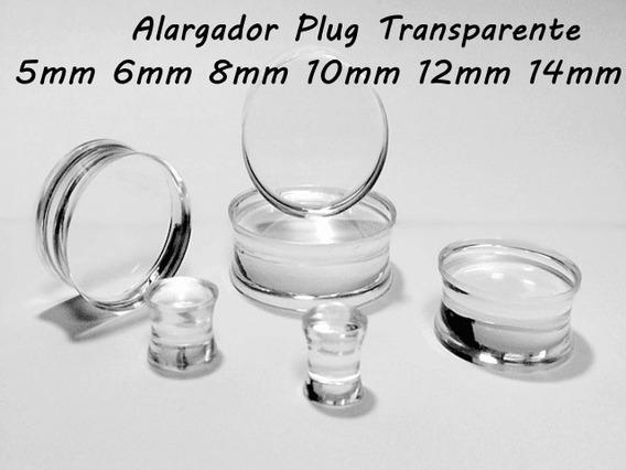 Alargador De Acrilico Transparente 5mm