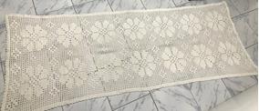Tapete Grande Retangular Crochê Artesanal 1,00m X 2,50m