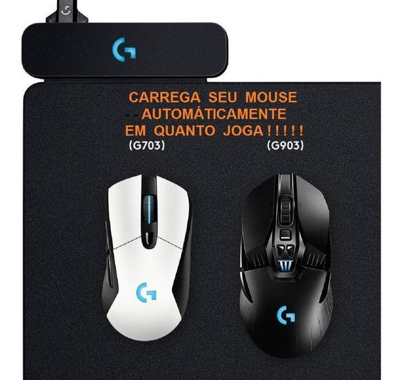 Mousepad Logitech Powerplay Gamer G Sem Fio Pad Mouse G903