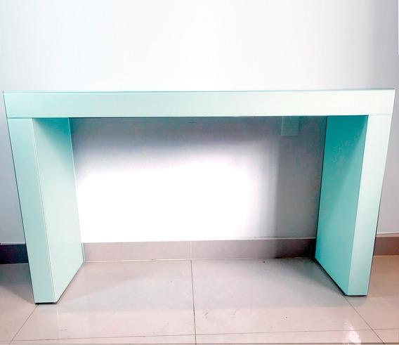 Aparador Stan De Vidro Branco 130,5cm