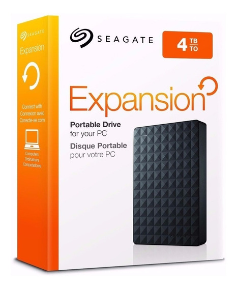 Hd Externo Seagate Expansion 4tb Portatil Usb 3.0/ 2.0 Preto