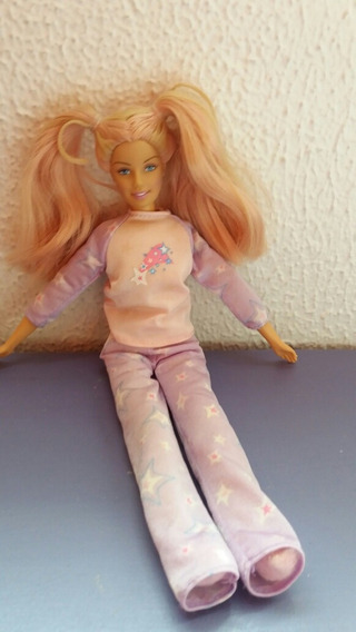 Barbie Pijama Hora De Dormir Corpo De Pelúcia Macia