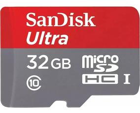 Cartão Memoria Sandisk 32gb Micro Sd Ultra Original Box Sdh