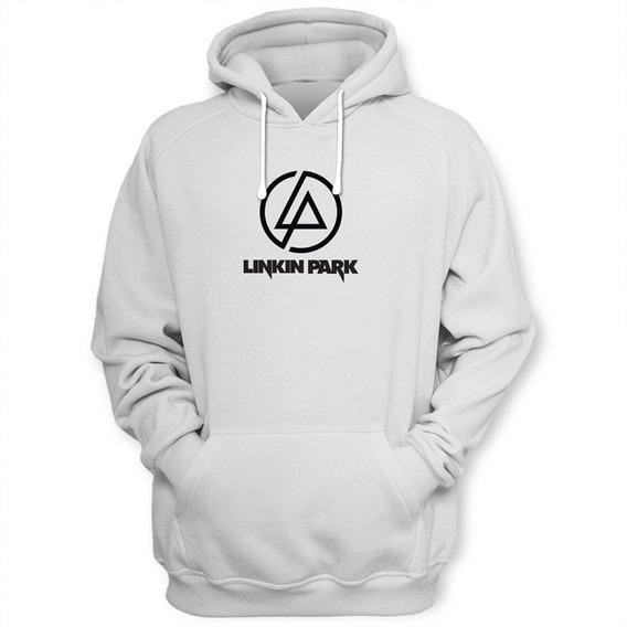 Sudadera Linkin Park Con Gorro Y Bolsas Al Frente