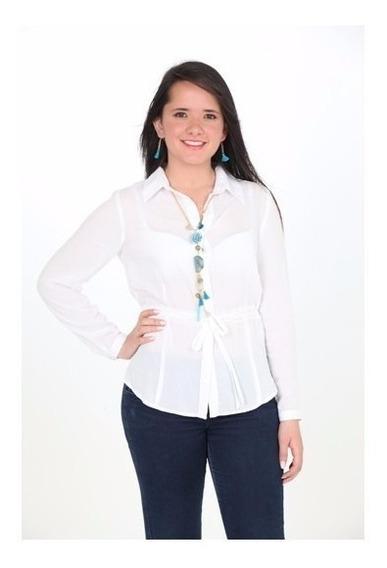 Blusas Mujer Estilo Camisero Blanca Linda Ropa Mujer