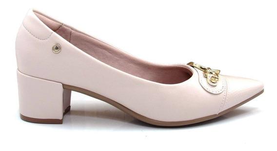 Scarpin Feminino Bico Fino Salto Grosso Olfer Shoes 1276-035