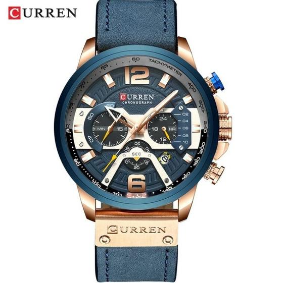 Relógio Curren 8329 Linha Luxo Lançamento 2019