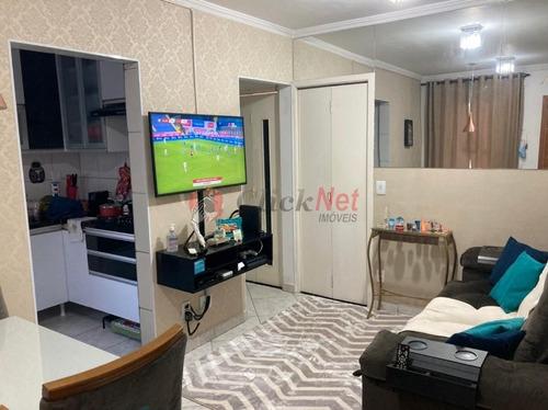 Imagem 1 de 17 de Apartamento Todo Reformado Localizado No Bairro Conceição, Diadema, Com 2 Dormitórios, 1 Vaga, 45 M². - 7016
