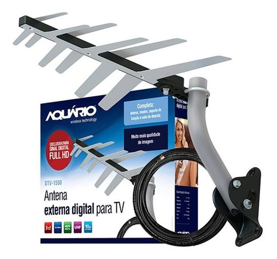 Antena Externa Digital Para Tv 2 Em 1 Completa